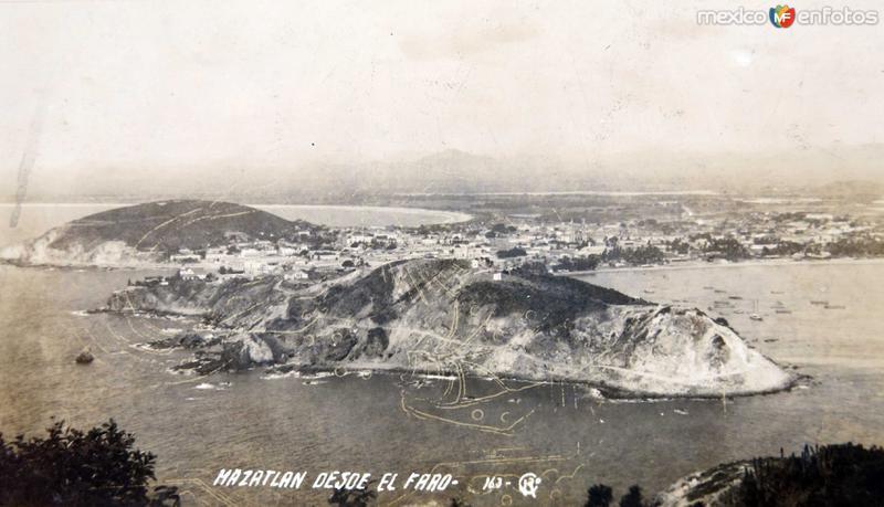 VISTA DESDE EL FARO Alrededor de 1900-1930