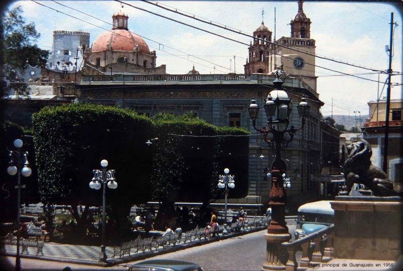 Plaza principal de Guanajuato en 1956