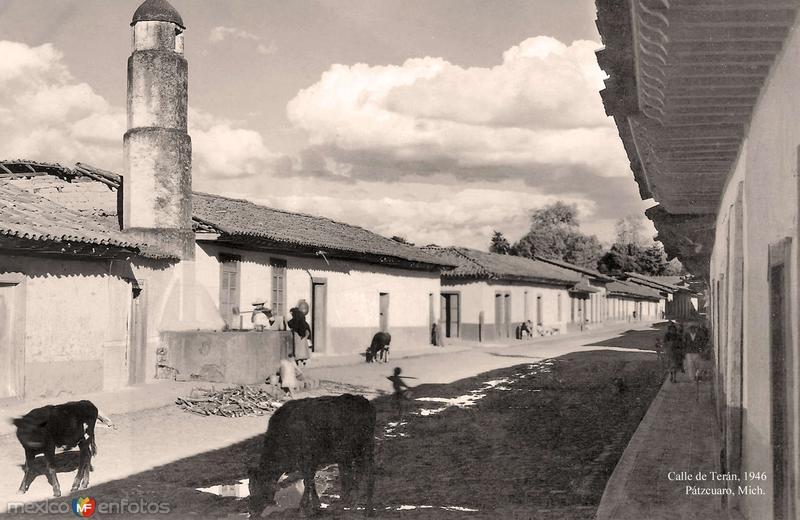 Pátzcuaro, Calle de Terán, 1946