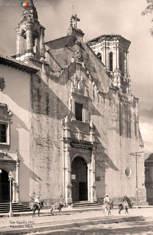 Pátzcuaro, Templo de San Agustín, 1951
