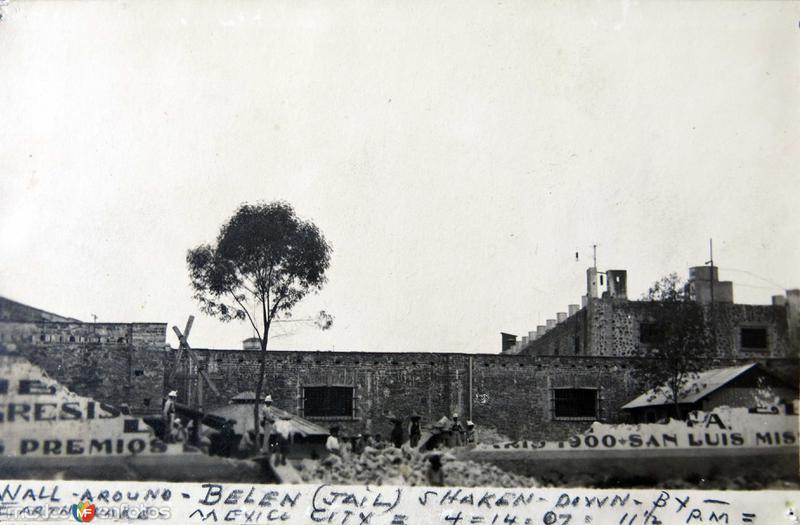 CARCEL DE BELEN DESPUES DEL TERREMOTO DE 1907