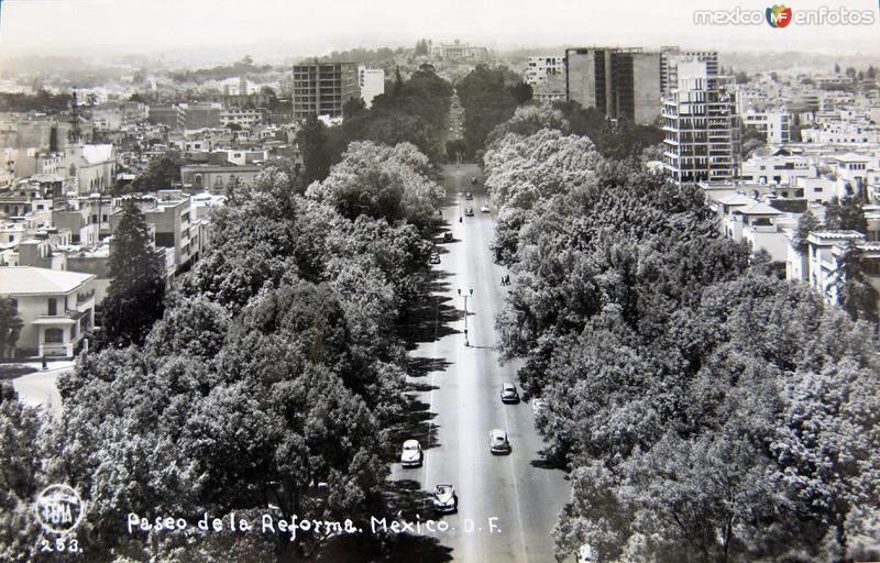 Paseo de la Reforma circa 1930-1950