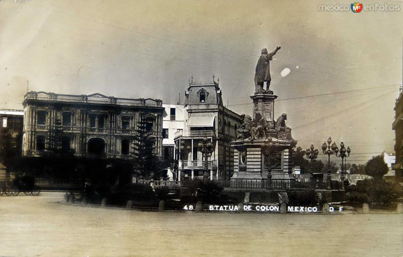 ESTATUA DE COLON Circa 1900-1920