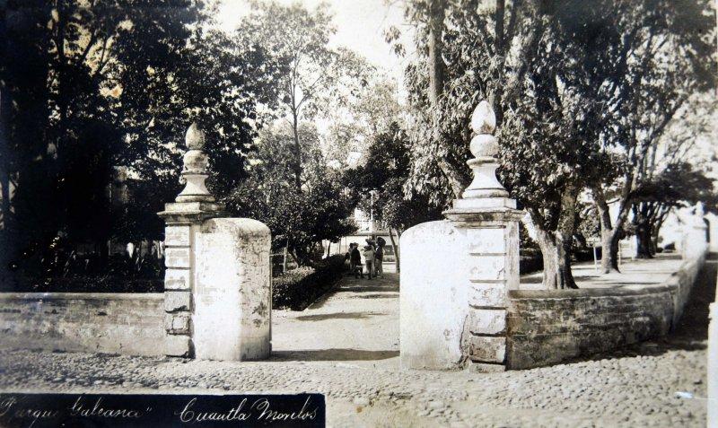 El parque Galeana circa 1900-1920
