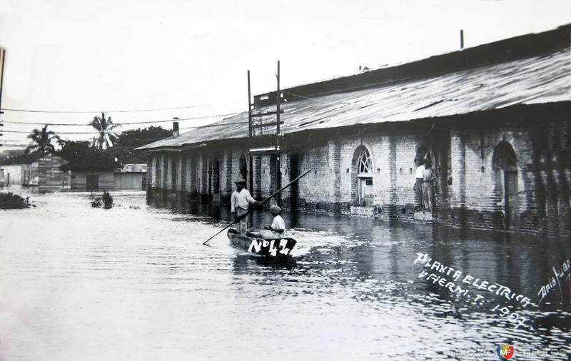 Inundacion en la Planta Electrica acaecido en el ano de 1927