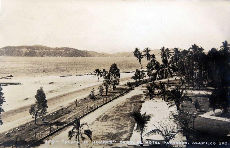 Playa de Hornos desde el Hotel Papagayo