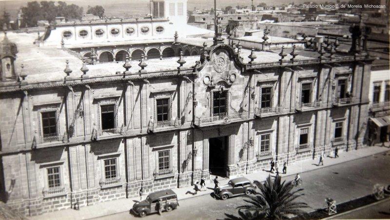 Palacio Municipal de Morelia Michoacan hacia 1930-1950