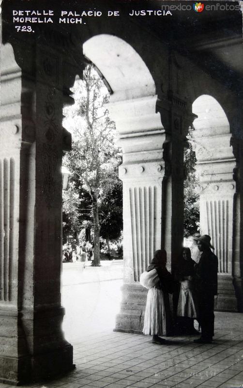 Detalle de el Palacio de Justicia