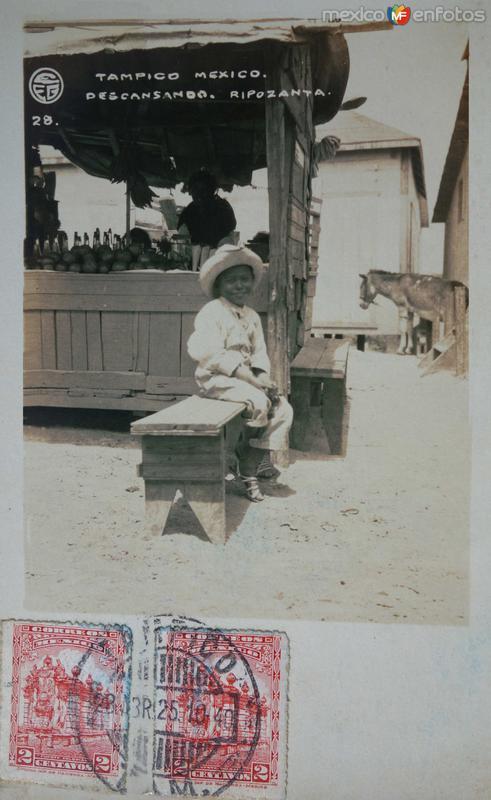 Nino descansando fechada el dia 23 de Abril de 1925