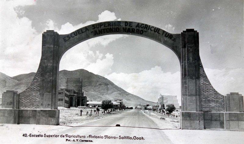 Escuela de Agricultura Antonio Narro entre 1930-1950