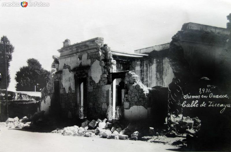 Sismo acaecido en 1931 Calle de Liceaga