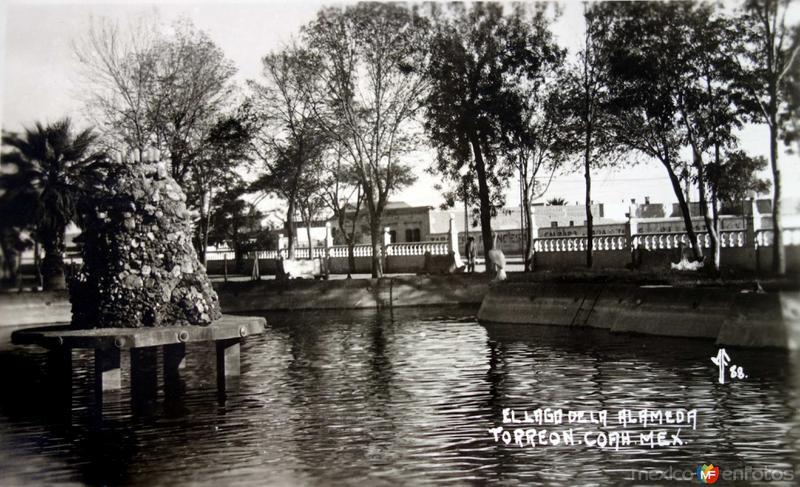El Lago de la Alameda ( 1930-1950)