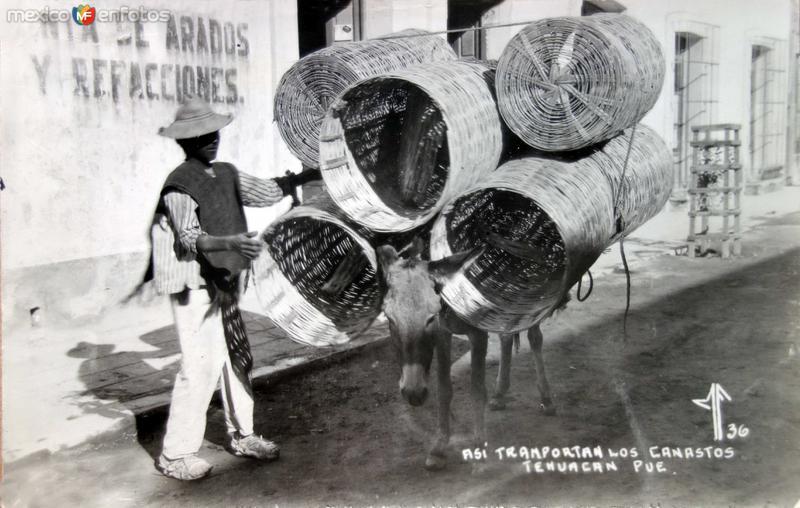 Tipos Mexicanos vendedor de Canastos