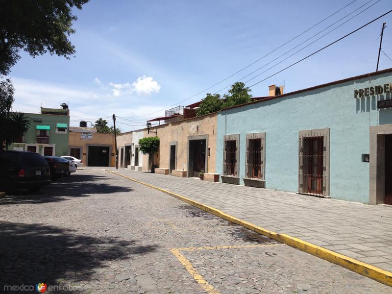 Calles del centro de Apetatitlán, Tlaxcala. Julio/2016