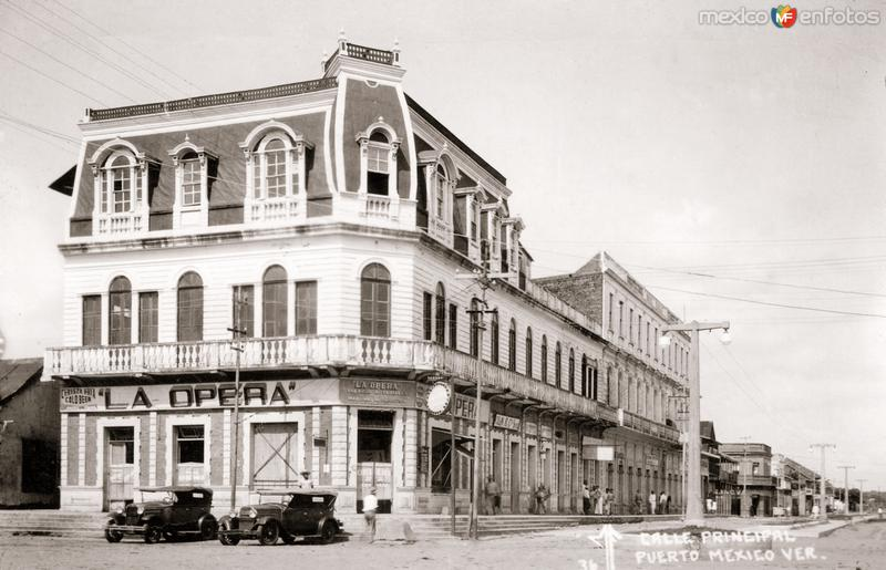 Calle Principal en Puerto México (hoy Coatzacoalcos)
