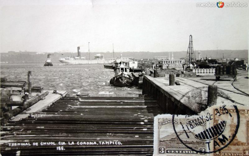 Terminal de CHIJOL Cia. La Corona ( Fechada el dia 18 de Mayo de 1932)