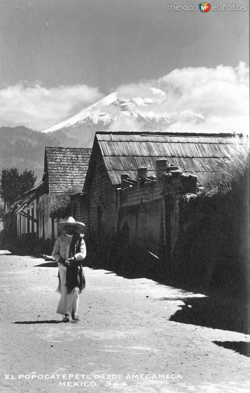 Vista del Popocatépetl