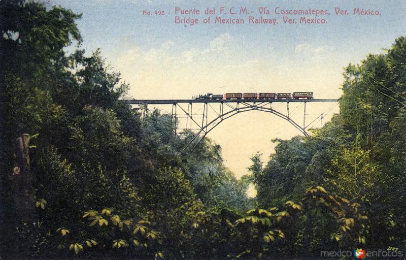 Puente del Ferrocarril Central Mexicano en Coscomatepec