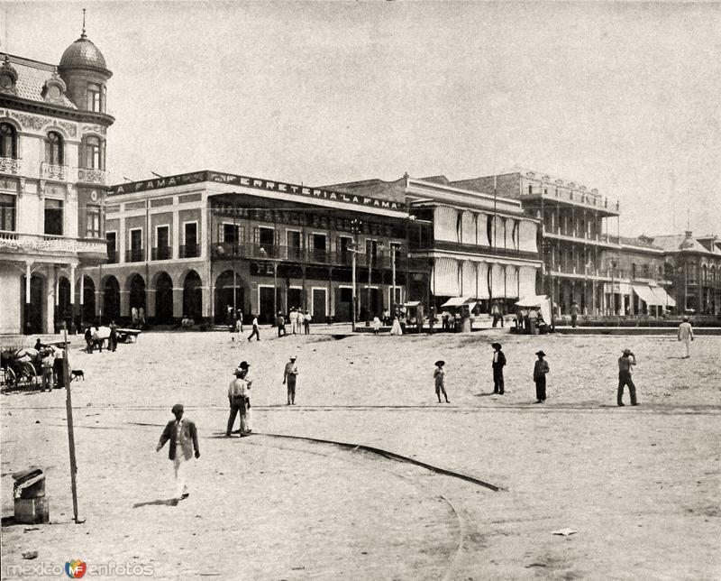 Vista parcial de la plaza de Tampico