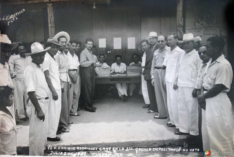 Dia de Votacion  2 de Julio de 1944