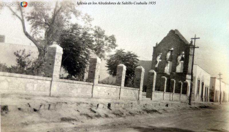 Iglesia en los Alrededores de Saltillo Coahuila 1935