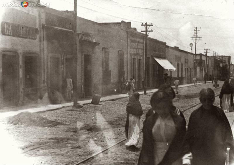 Calle Benito Juarez Garcia fotografia de los años 1920´s