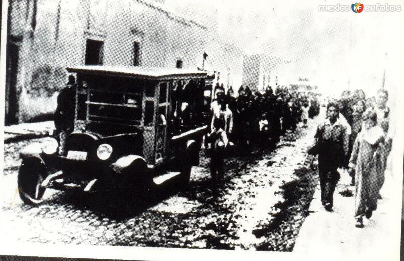 cortejo fúnebre Salamanca Guanajuato años 30