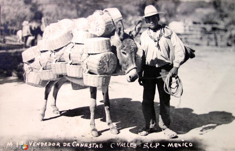 Tipos Mexicanos Vendedor de canastas.