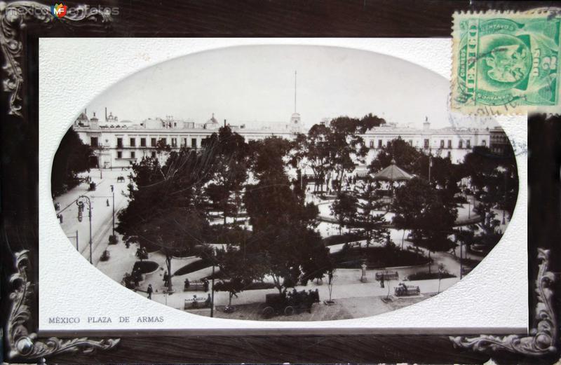 Plaza de Armas ( Fechada el 31 de Diciembre de 1910 ) .