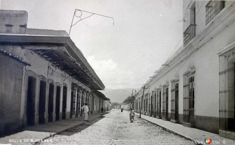 Calle Benito Juarez ( Circulada el 20 de Octubre de 1920 ).