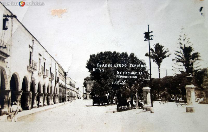 Calle de Lerdo.