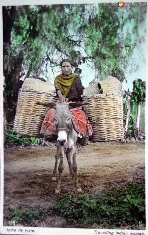 Tipos Mexicanos una India de viaje ( Circulada el 18 de Septiembre de 1925 )