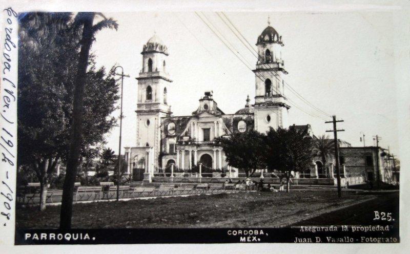 La parroquia por el Fotógrafo Juan D. Vasallo ( Circulada 17 de Abril 1908)..