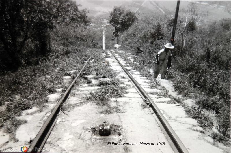 Via ferroviaria El Fortin Veracruz Marzo de 1946.