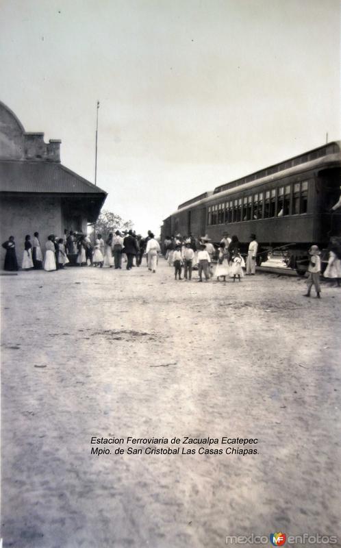 Estacion Ferroviaria de Zacualpa Ecatepec Mpio. de San Cristobal Las Casas Chiapas.