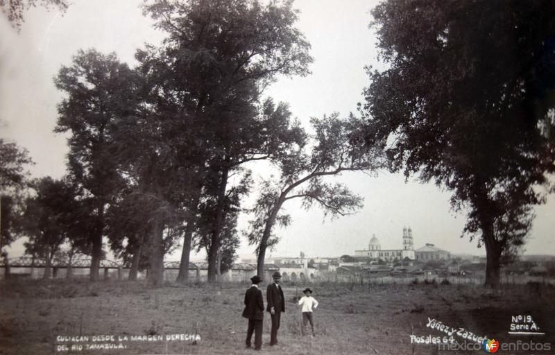 Escena desde el margen derecho de el Rio Tamazula ( Circulada el 21 de Octubre de 1909 ).