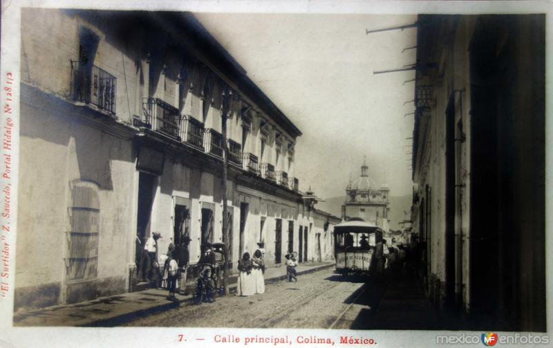 Calle Principal ( Circulada el 13 deEnero de 1908 ).