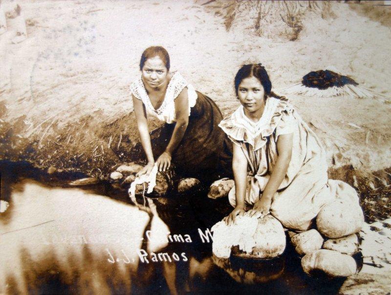 Tipos Mexicanos Lavanderas ( Circulada el 7 de Mayo de 1909 ).