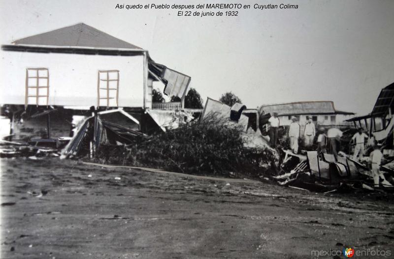 Asi quedo el Pueblo despues del MAREMOTO en Cuyutlan Colima El 22 de junio de 1932