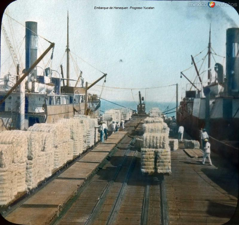 Embarque de Henequen Progreso Yucatan.
