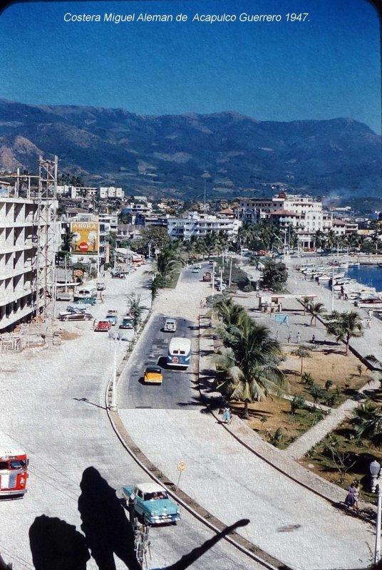Costera Miguel Aleman de Acapulco Guerrero (c. 1953).