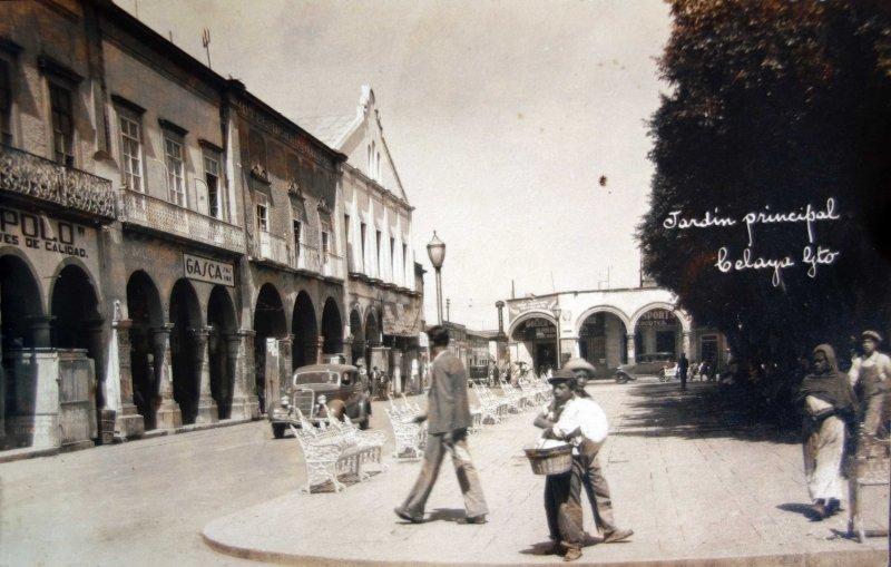 Jardin Principal Circulada en 1936.