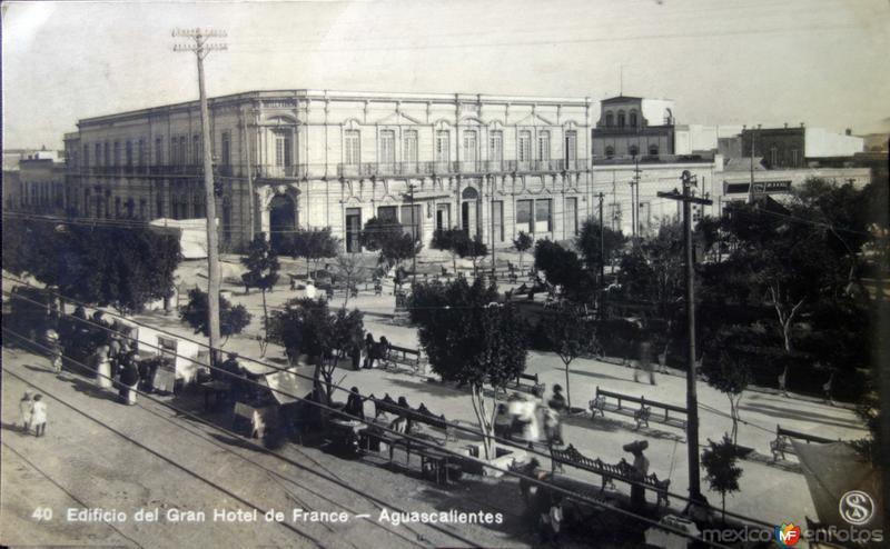 Edificio del gran hotel de France ( Circulada el 24 de Diciembre de 1925 )