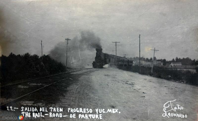 Salida de el tren de Progreso Yucatan.