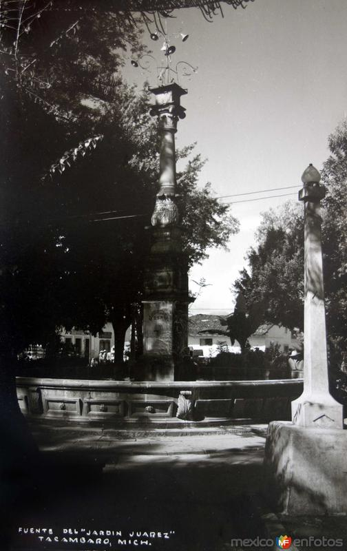 Fuente de el Jardin Juarez.