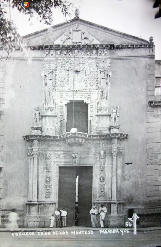 Fachada de la casa de los Montejos.