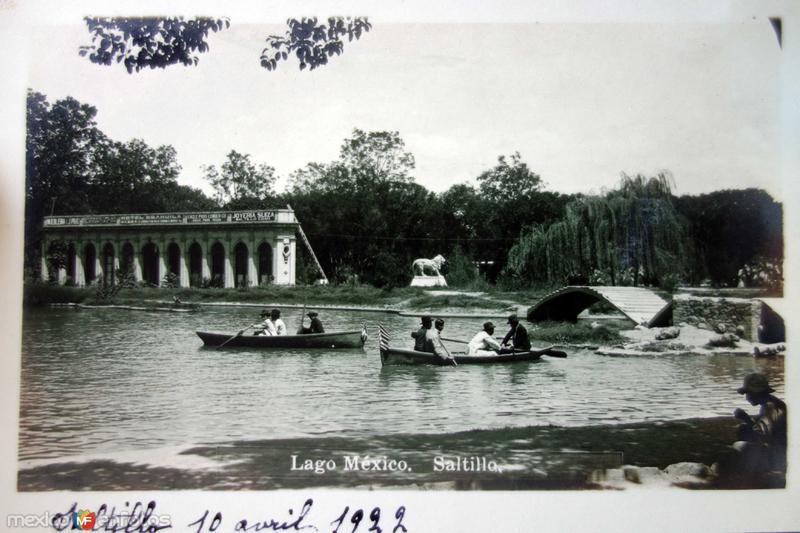 Lago Mexico ( Circulada el 10 de Abril de 1922 )