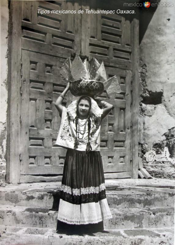 Tipos mexicanos de Tehuantepec Oaxaca.
