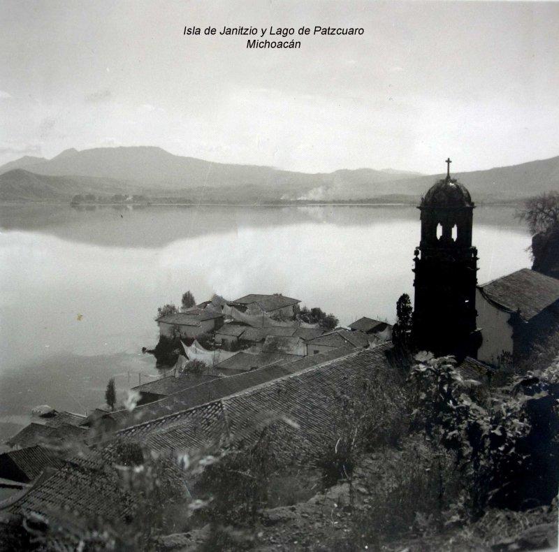 Isla de Janitzio y Lago de Patzcuaro Michoacán.