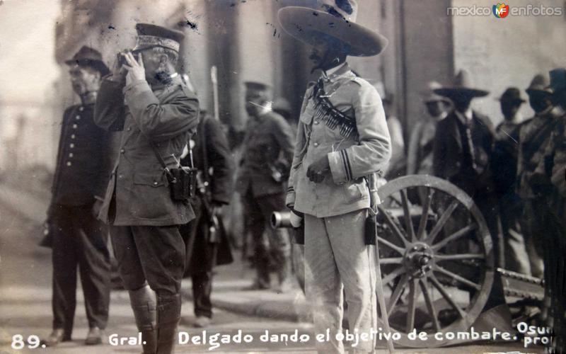 General Delgado Dando la orden de combate ( Circulada el 4 de Julio de 1914 )